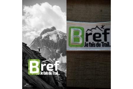 Tour de cou + écusson Bref je fais du trail
